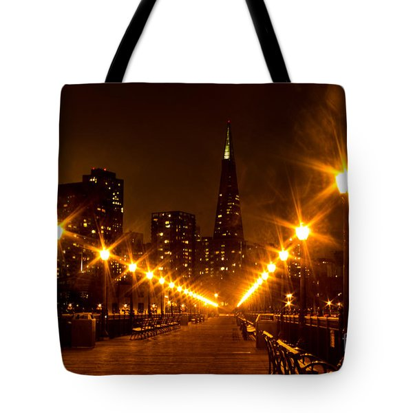 Transamerica Pyramid From Pier Tote Bag