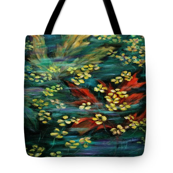 Tote Bag featuring the painting Transforming... by Xueling Zou