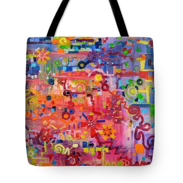 Transition To Chaos Tote Bag by Regina Valluzzi
