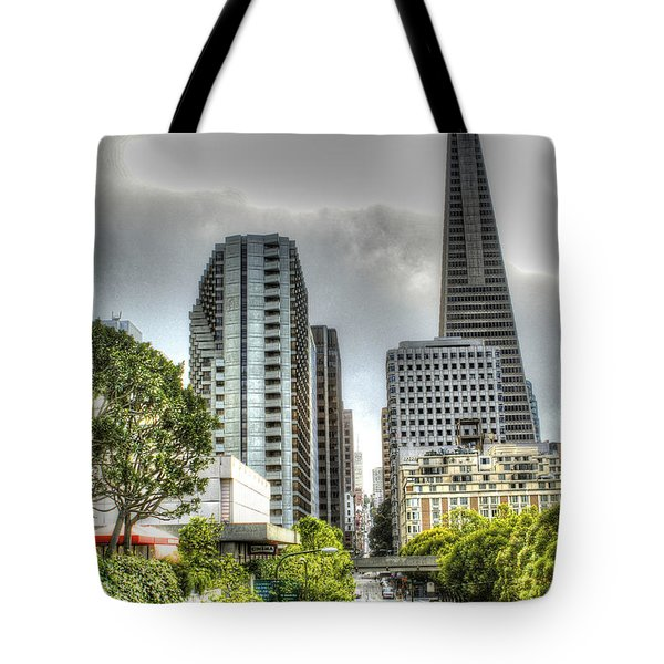 Transmerica Pyramid From The Embarcadero Tote Bag