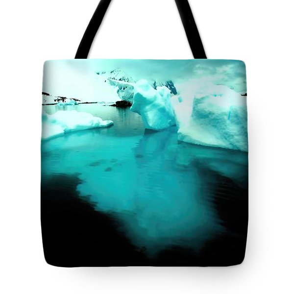 Tote Bag featuring the photograph Transparent Iceberg by Amanda Stadther