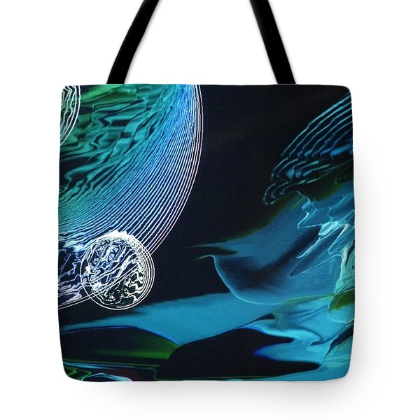 Transparent Planet Tote Bag by Michael Kegg
