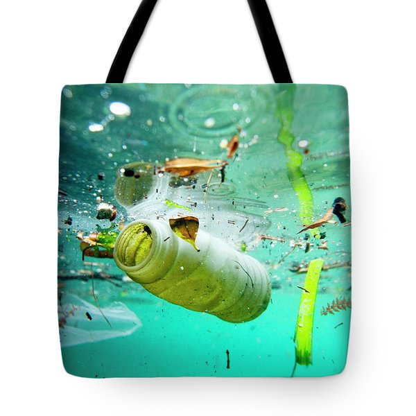 Trash Floating On The Marseille Shore Tote Bag