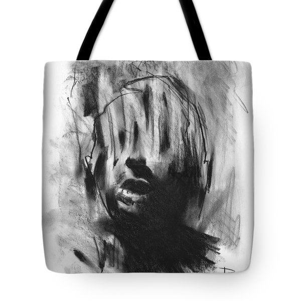 Tote Bag featuring the drawing Gaza Trauma by Paul Davenport