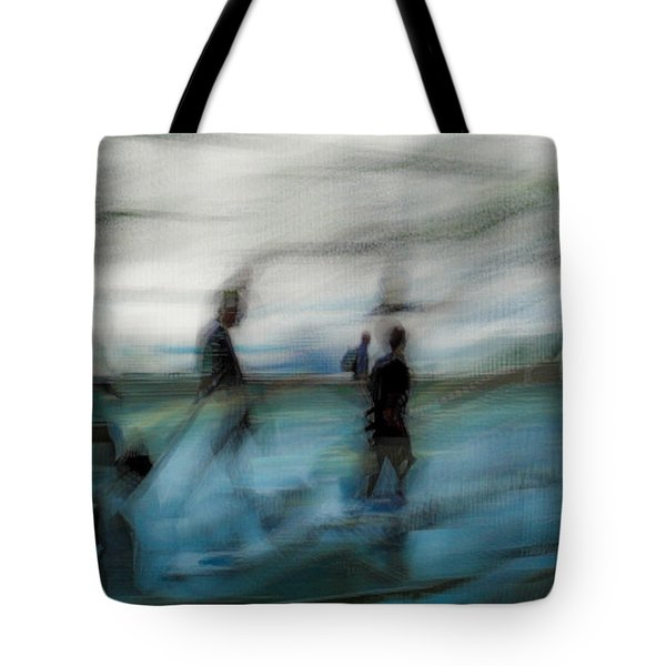 Tote Bag featuring the photograph Travel Blues by Alex Lapidus