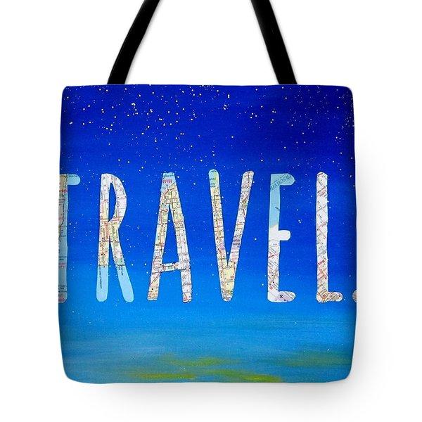 Travel Word Art Tote Bag