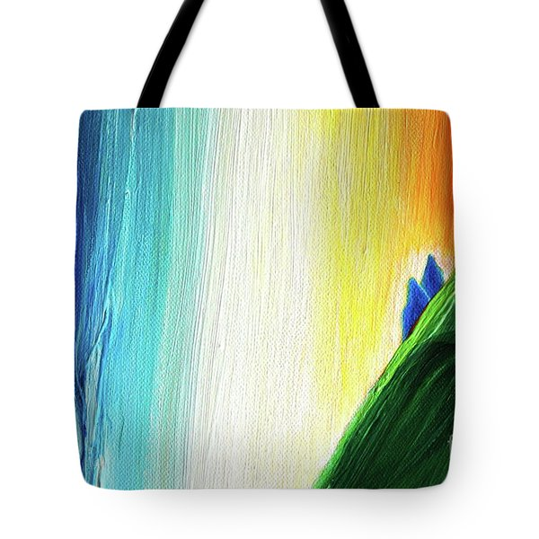 Tote Bag featuring the painting Travelers Rainbow Waterfall Detail by First Star Art