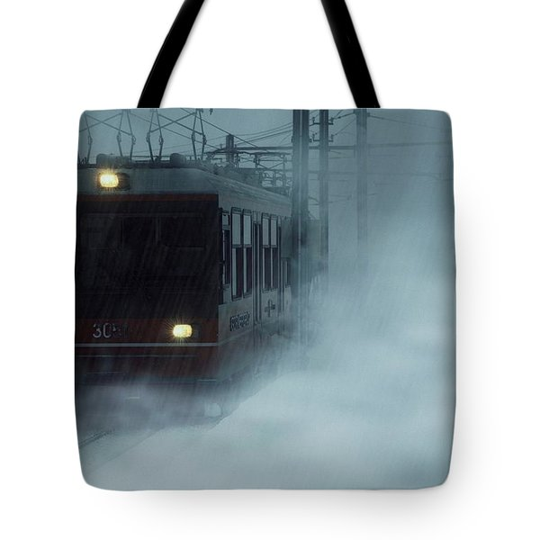 Traveling In The Snow... Tote Bag