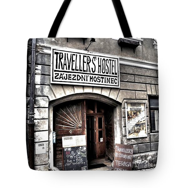 Tote Bag featuring the photograph Travellers Hostel - Cesky Krumlov by Juergen Weiss