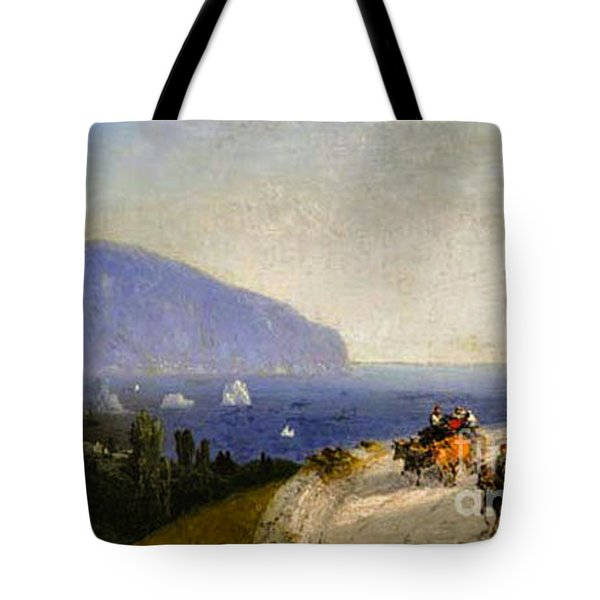 Travellers In Gurzuf Tote Bag