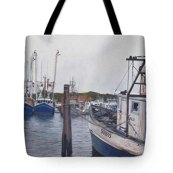 Trawlers At Gosman's Dock Montauk Tote Bag