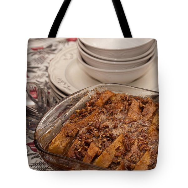 Tray Of Baked French Toast Tote Bag