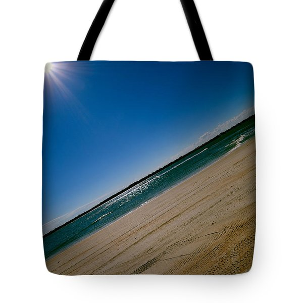 Tote Bag featuring the photograph Treads In The Sand by DigiArt Diaries by Vicky B Fuller