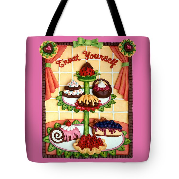 Treat Yourself Tote Bag by Amy Vangsgard