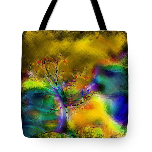 Tree Abstract - Bold Is Beautiful Tote Bag by Liane Wright