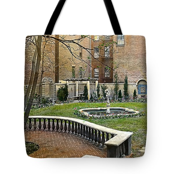 Tree And Bench Tote Bag by Terry Reynoldson