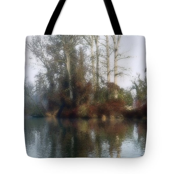 Tree And Reflection Tote Bag