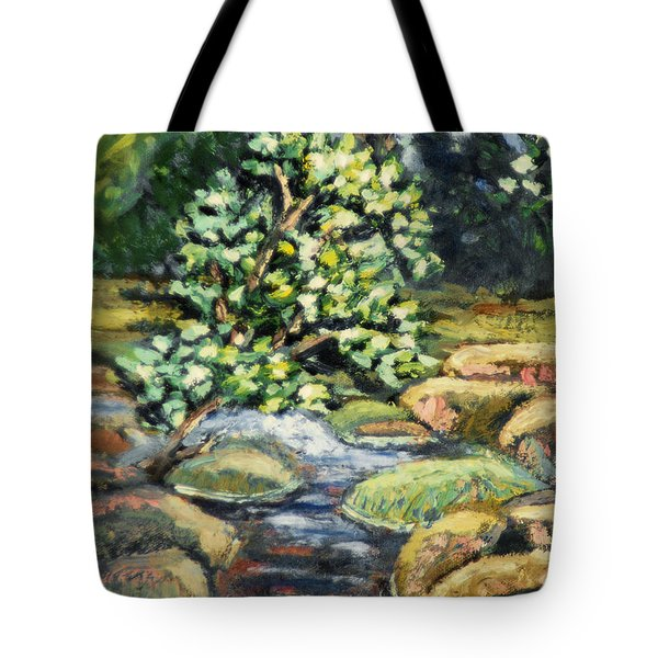Tree And Stream Tote Bag