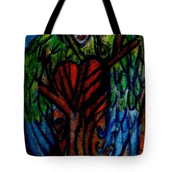 Tree Angel Tote Bag by Genevieve Esson