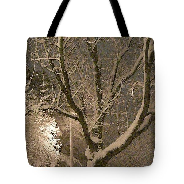 Tree At Night Tote Bag