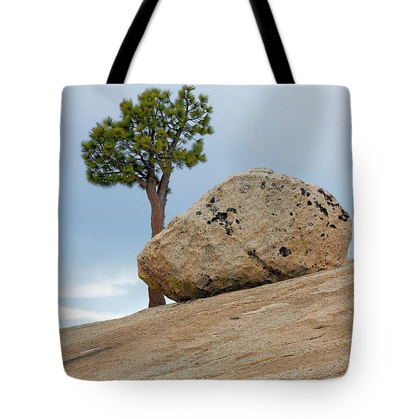 Tree At Olmsted Point Yosemite National Park California Tote Bag by Christine Till