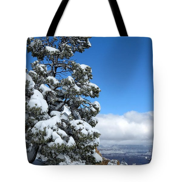 Tote Bag featuring the photograph Tree At The Grand Canyon by Laurel Powell