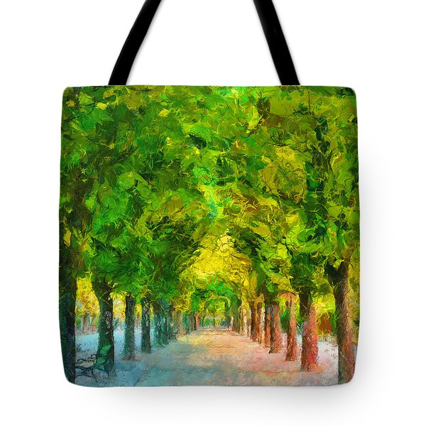 Tree Avenue In The Vienna Augarten Tote Bag