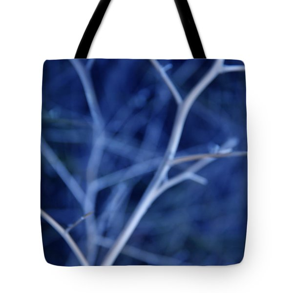 Tree Branches Abstract Blue Tote Bag by Jennie Marie Schell