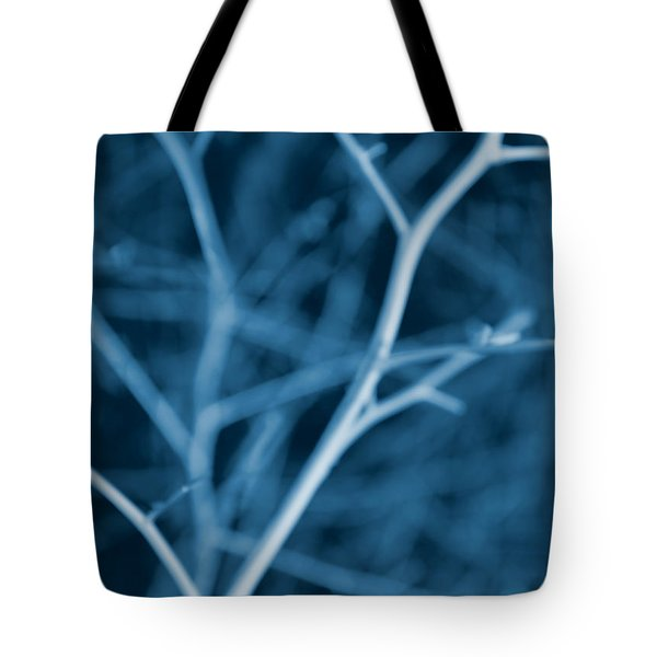 Tree Branches Abstract Cobalt Blue Tote Bag by Jennie Marie Schell