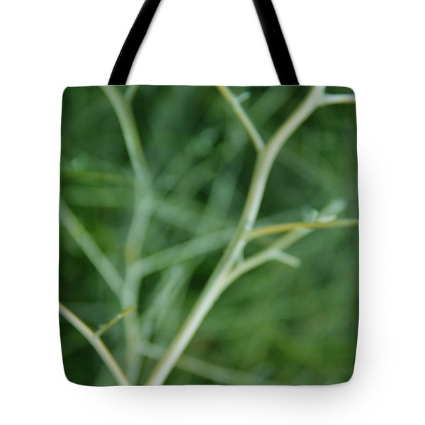 Tree Branches Abstract Green Tote Bag by Jennie Marie Schell