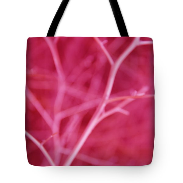 Tree Branches Abstract Hot Pink Tote Bag by Jennie Marie Schell