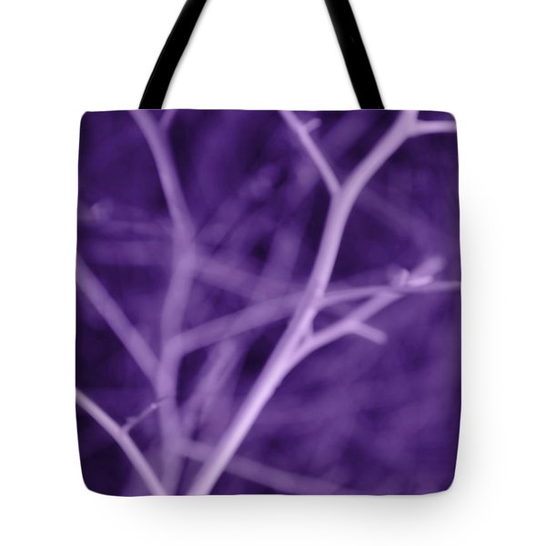 Tree Branches Abstract Purple Tote Bag by Jennie Marie Schell
