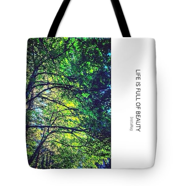 Tree Canopy From My Afternoon Walk Tote Bag