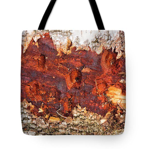 Tree Closeup - Wood Texture Tote Bag