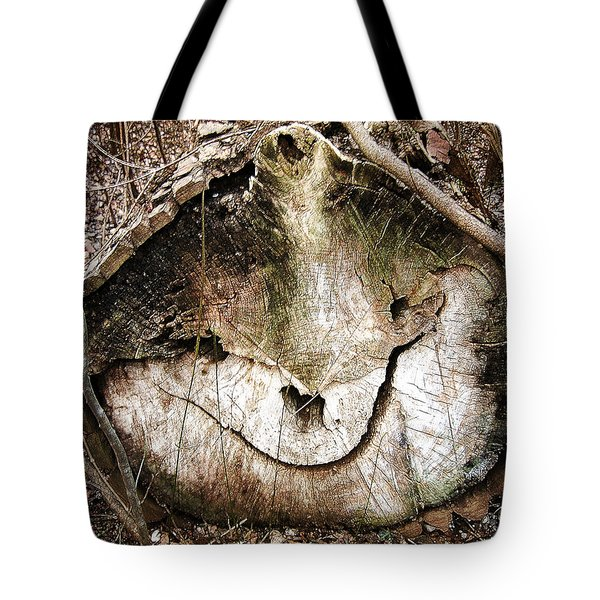Tote Bag featuring the photograph Tree Face by Menega Sabidussi