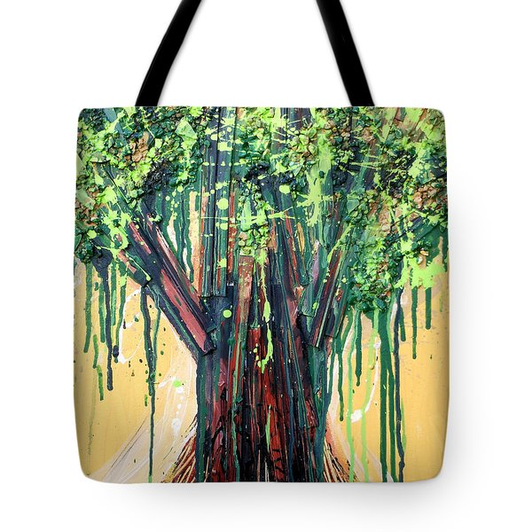 Tree Grit Tote Bag by Genevieve Esson