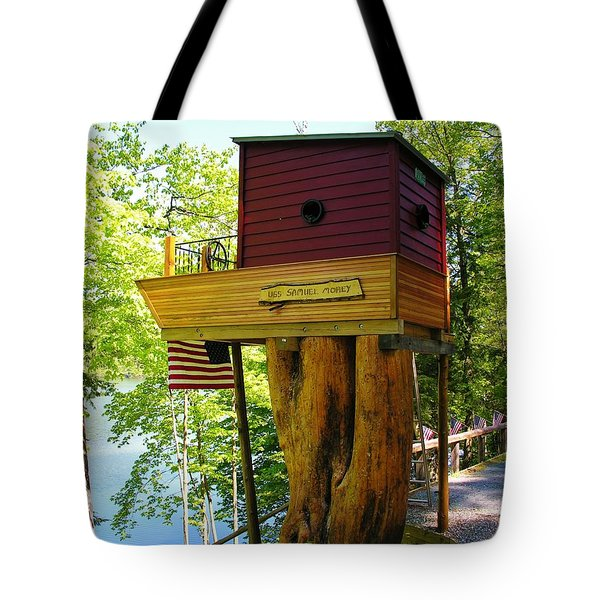 Tree House Boat Tote Bag by Sherman Perry