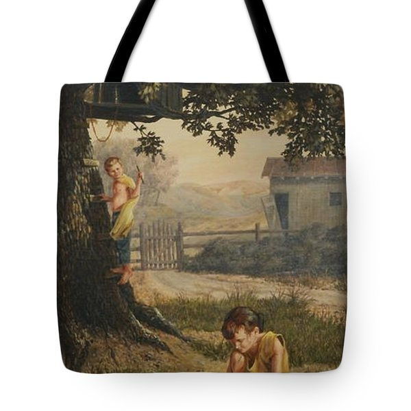 Tree House Tote Bag