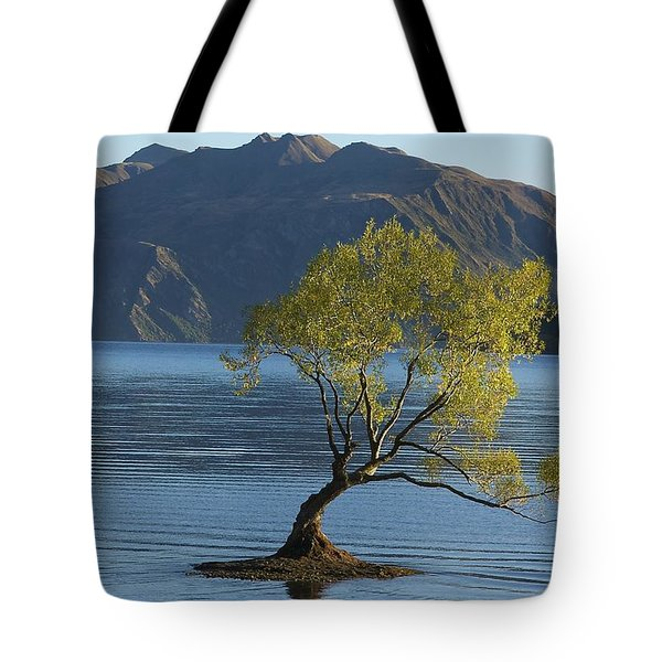 Tree In Lake Wanaka Tote Bag