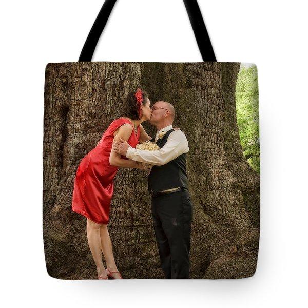 Tree Lovers- Bride And Groom Tote Bag by Kathleen K Parker