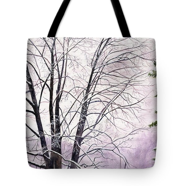 Tote Bag featuring the painting Tree Memories by Melly Terpening