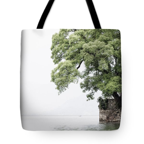 Tree Next To A Lake Tote Bag
