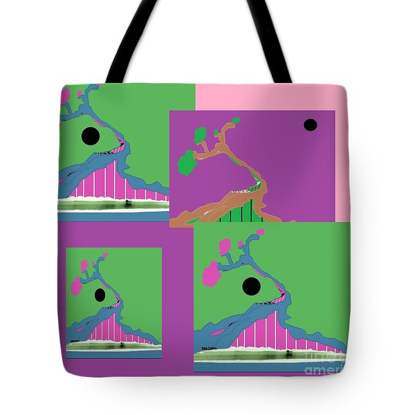 Tote Bag featuring the digital art Tree Of Hope 2 by Ann Calvo