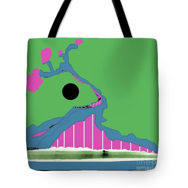Tote Bag featuring the digital art Tree Of Hope by Ann Calvo