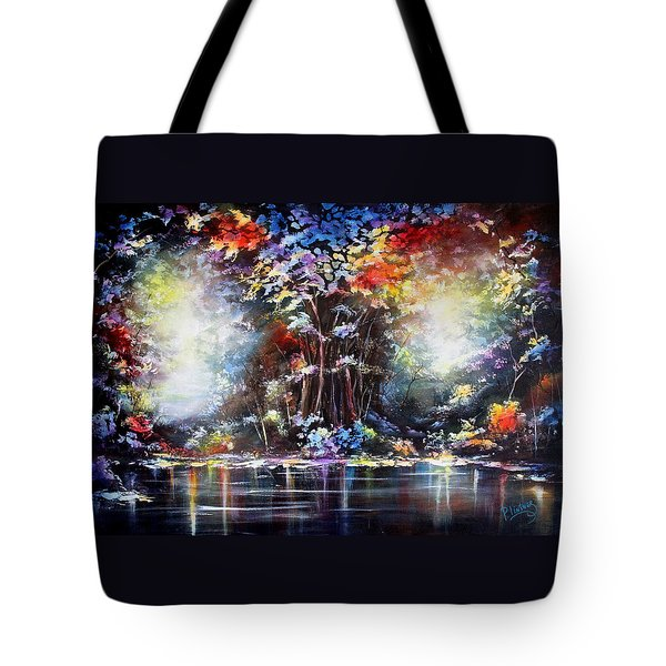 Tote Bag featuring the painting Tree Of Life 2 by Patricia Lintner
