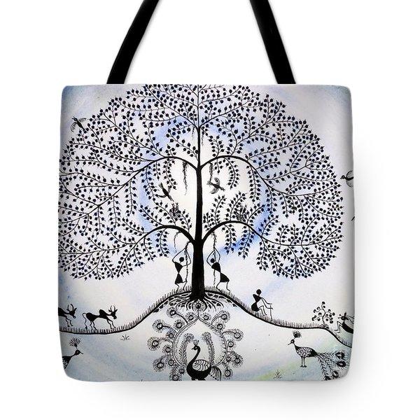 Tree Of Life Tote Bag by Anjali Vaidya