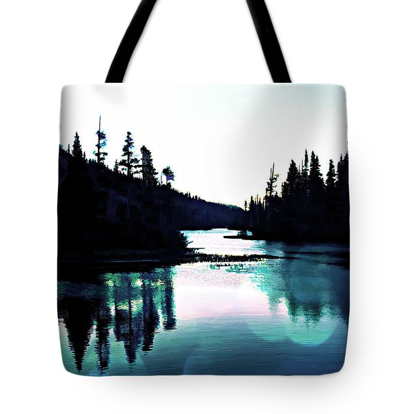Tree Of Life Digital Paint Effect Tote Bag by Sharon Soberon