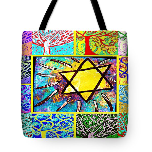 -tree Of Life Star Tote Bag by Sandra Silberzweig