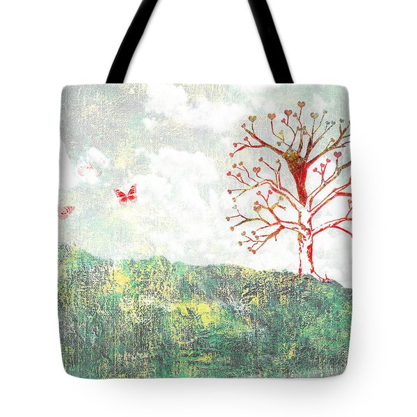 Tree Of Love Tote Bag by Aged Pixel