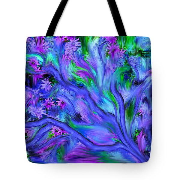 Tote Bag featuring the digital art Tree Of Peace And Serenity by Sherri  Of Palm Springs